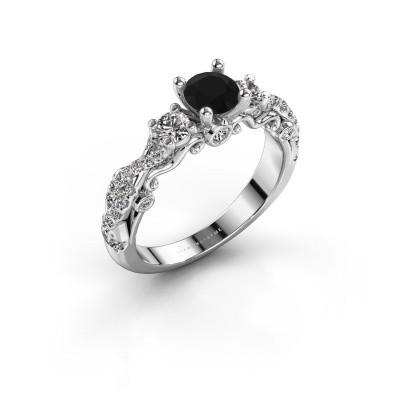 Bild von Verlobungsring Kourtney 585 Weissgold Schwarz Diamant 1.156 crt