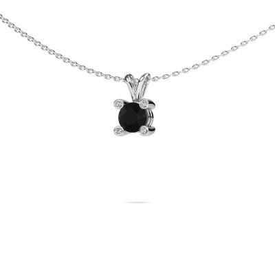 Picture of Pendant Fleur 950 platinum black diamond 0.627 crt