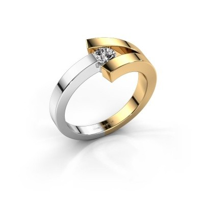 Ring Sofia 585 goud diamant 0.20 crt