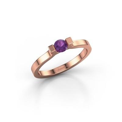 Foto van Verlovingsring Jodee 585 rosé goud amethist 4 mm