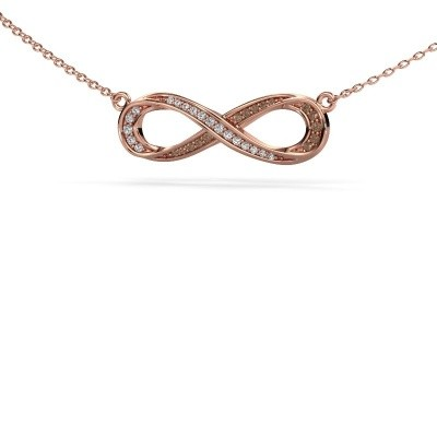 Picture of Necklace Infinity 2 375 rose gold brown diamond 0.123 crt