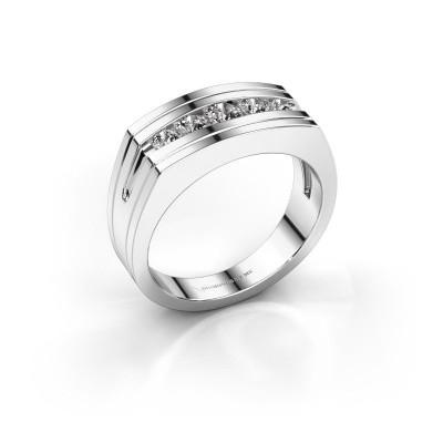 Foto van Heren ring Huub 925 zilver zirkonia 3.7 mm