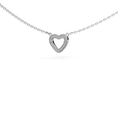 Picture of Pendant Heart 4 925 silver zirconia 0.8 mm