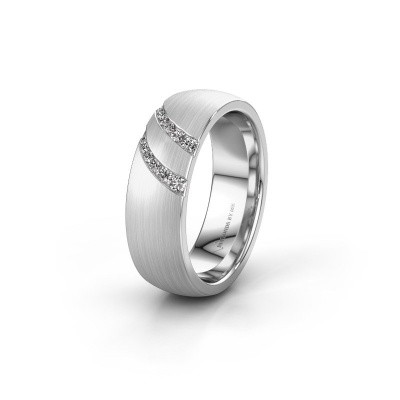 Trouwring WH2015L 585 witgoud diamant ±6x2 mm