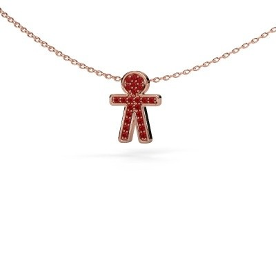 Picture of Pendant Boy 375 rose gold ruby 1 mm