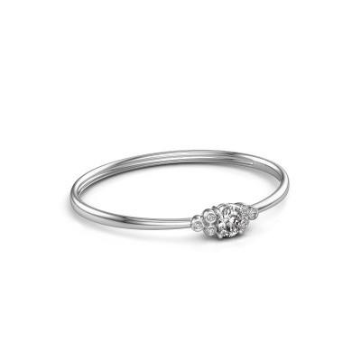 Foto van Slavenarmband Lucy 585 witgoud diamant 1.27 crt