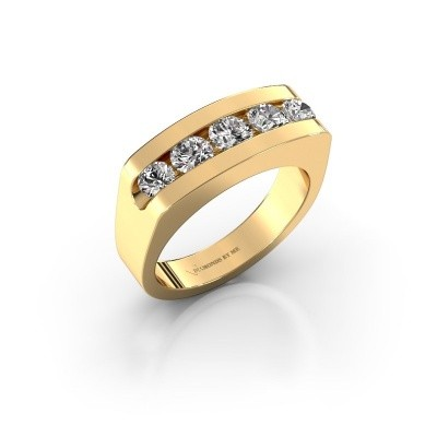 Foto van Heren ring Richard 375 goud zirkonia 4 mm
