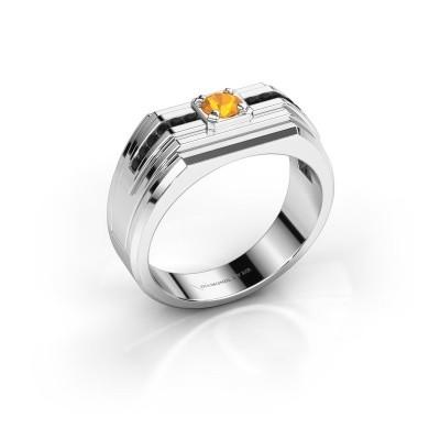 Foto van Heren ring Oliver 585 witgoud citrien 4 mm