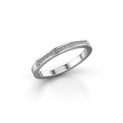 Foto van Aanschuifring SRJ0005B20H2 950 platina diamant 0.08 crt