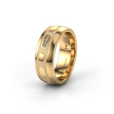 Trouwring WH2002L 585 goud diamant ±7x2 mm