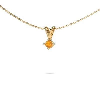 Picture of Necklace Jannette 375 gold citrin 3.7 mm