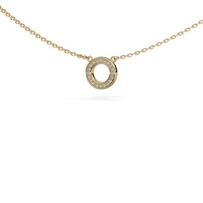 Bild von Anhänger Round 2 585 Gold Diamant 0.05 crt