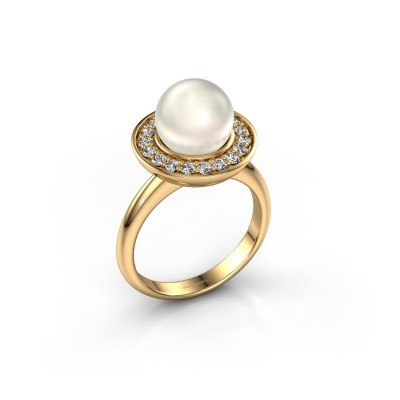 Foto van Ring Sarah 750 goud witte parel 9 mm
