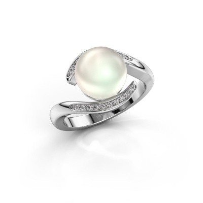 Foto van Ring Dedra 950 platina witte parel 9 mm