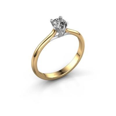 Foto van Verlovingsring Isa 1 375 goud diamant 0.25 crt