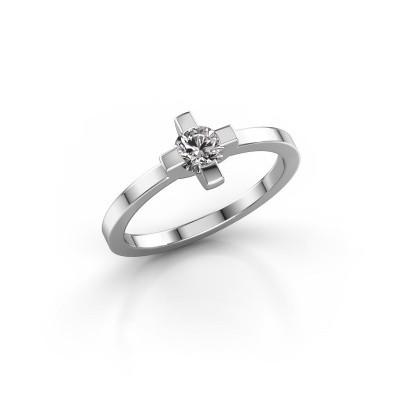 Foto van Ring Therese 925 zilver diamant 0.30 crt