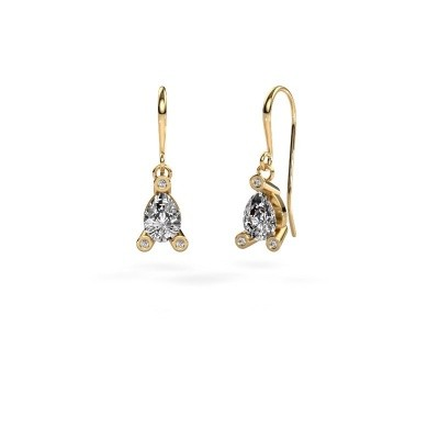 Foto van Oorhangers Bunny 1 585 goud diamant 1.345 crt