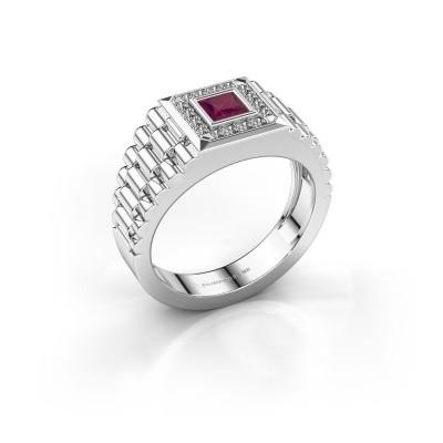 Foto van Rolex stijl ring Zilan 585 witgoud rhodoliet 4 mm