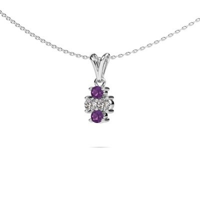 Picture of Necklace Richelle 925 silver amethyst 3 mm