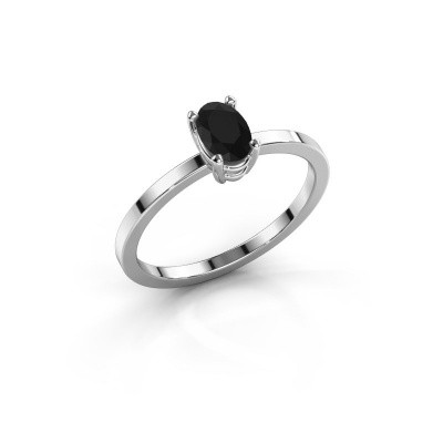 Foto van Ring Lynelle 1 585 witgoud zwarte diamant 0.60 crt