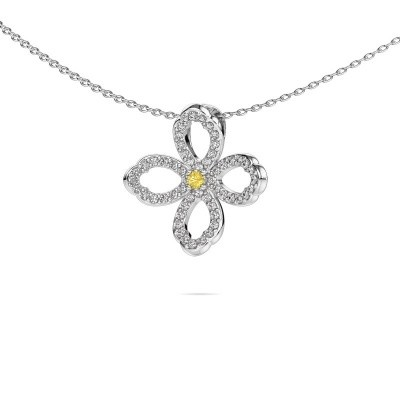 Picture of Necklace Chelsea 925 silver yellow sapphire 2 mm