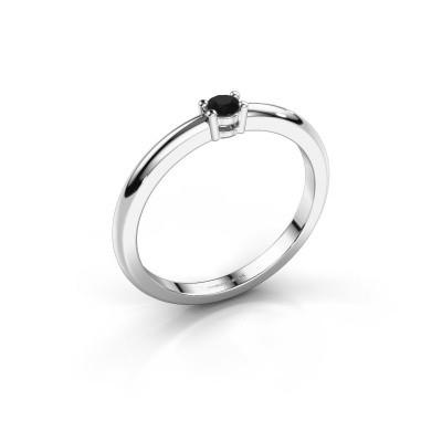 Foto van Verlovingsring Michelle 1 585 witgoud zwarte diamant 0.096 crt