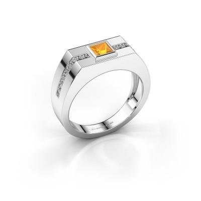 Foto van Heren ring Robertus 2 950 platina citrien 4 mm