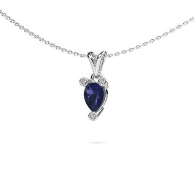 Picture of Necklace Cornelia Pear 950 platinum sapphire 7x5 mm