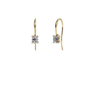 Foto van Oorhangers Cleo 585 goud diamant 1.00 crt