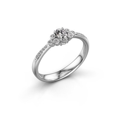 Picture of Engagement ring Lucy 2 585 white gold diamond 0.969 crt