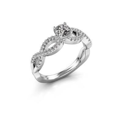 Foto van Verlovingsring Hanneke 585 witgoud diamant 0.61 crt