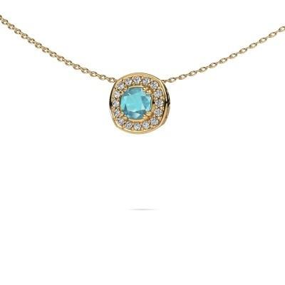 Picture of Necklace Carolina 585 gold blue topaz 5 mm