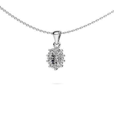 Foto van Ketting Leesa 950 platina diamant 0.70 crt