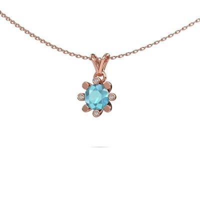 Picture of Pendant Carola 2 585 rose gold blue topaz 6 mm