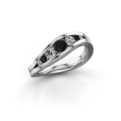 Picture of Ring Sigrid 2 585 white gold black diamond 0.664 crt