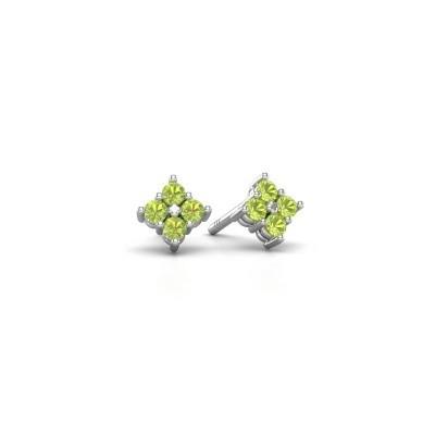 Picture of Stud earrings Maryetta 925 silver peridot 2 mm