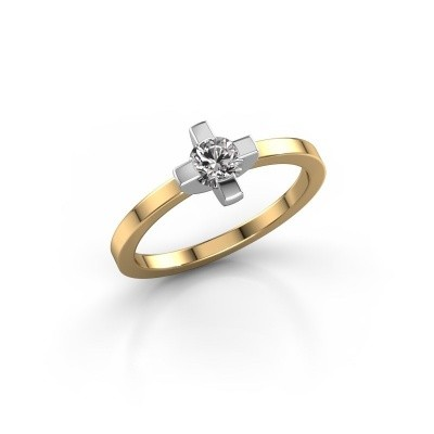 Foto van Ring Therese 585 goud zirkonia 4.2 mm