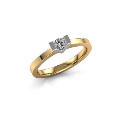Foto van Aanzoeksring Sherley 1 585 goud diamant 0.15 crt