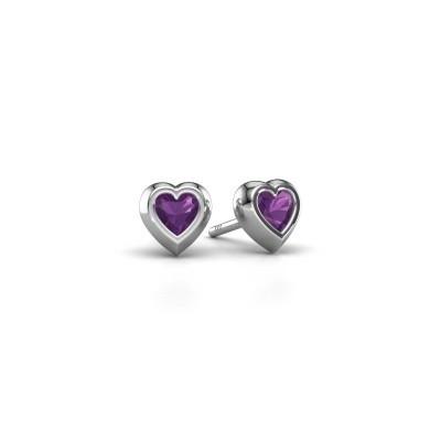 Picture of Stud earrings Charlotte 925 silver amethyst 4 mm