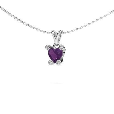Picture of Necklace Cornelia Heart 950 platinum amethyst 6 mm