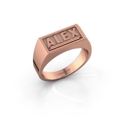 Foto van Monogram ring Marcio 585 rosé goud