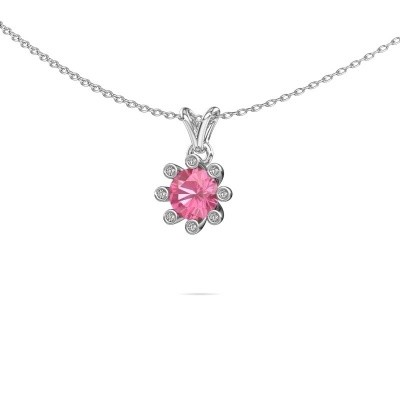 Picture of Pendant Carola 3 950 platinum pink sapphire 6 mm