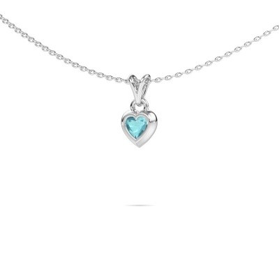 Picture of Pendant Charlotte Heart 925 silver blue topaz 4 mm