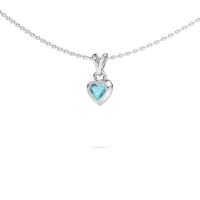 Bild von Anhänger Charlotte Heart 925 Silber Blau Topas 4 mm