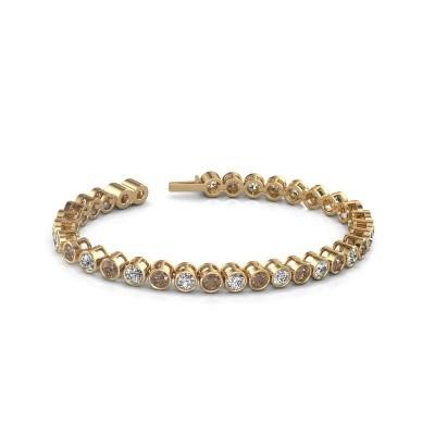 Foto van Tennisarmband Allegra 375 goud bruine diamant 8.50 crt