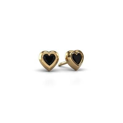 Bild von Ohrsteckers Charlotte 585 Gold Schwarz Diamant 0.60 crt