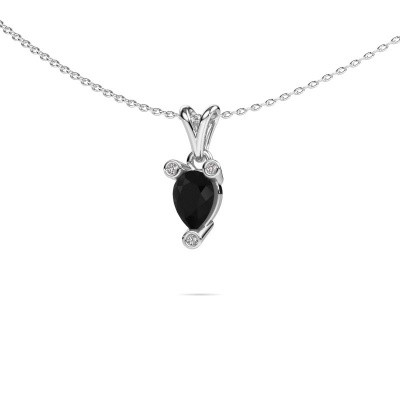 Picture of Necklace Cornelia Pear 950 platinum black diamond 0.80 crt