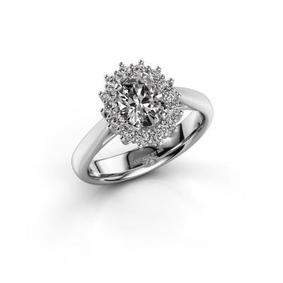 Foto van Verlovingsring Margien 1 585 witgoud diamant 1.08 crt