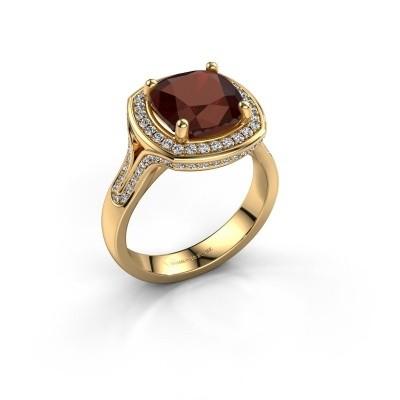 Foto van Ring Lili 375 goud granaat 9 mm