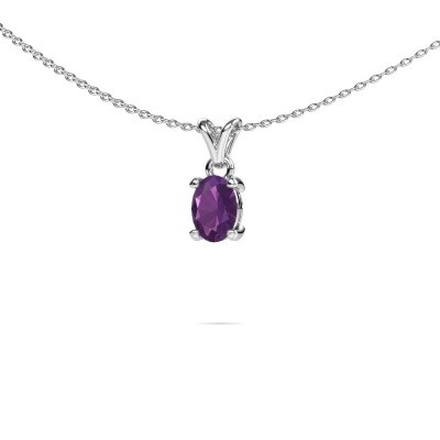Picture of Necklace Lucy 1 950 platinum amethyst 7x5 mm